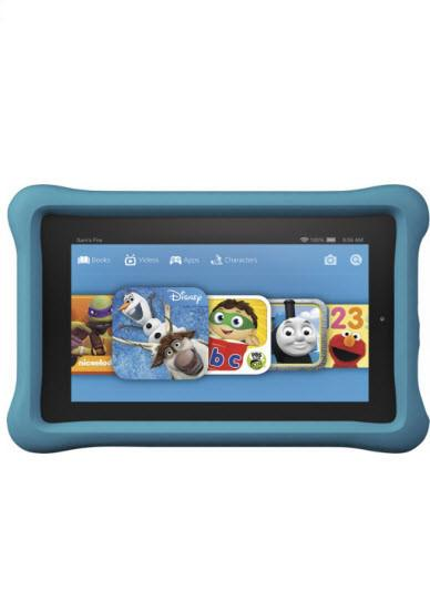 "Amazon - Fire Kids Edition - 7"" Tablet - 16GB - Blue"