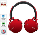 Sony MDRXB650BT/B Extra Bass Bluetooth Headphones - Red