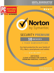 Norton Security Premium - 10 Devices Key Card