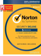 Norton Security Deluxe - 5 Devices Key Card