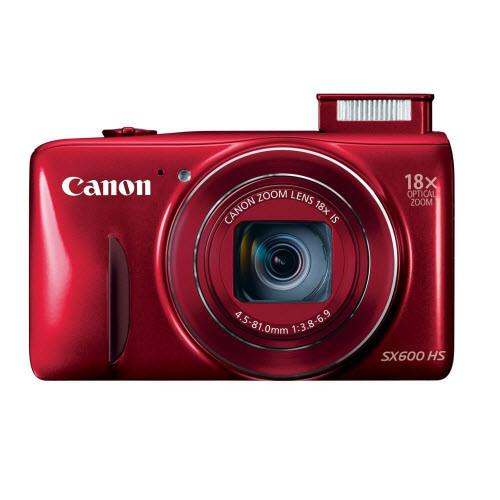 Canon PowerShot SX600 HS 16MP Digital Camera - Red
