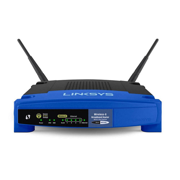 Linksys WRT54GL 11G 54MBPS BROADBAND ROUTER 4PORT 10/100 LINUX VERSION