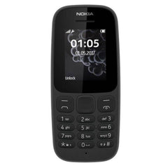 Nokia 105 [2017] TA-1037 Dual-Band (850/1900) Factory Unlocked Mobile Phone Black
