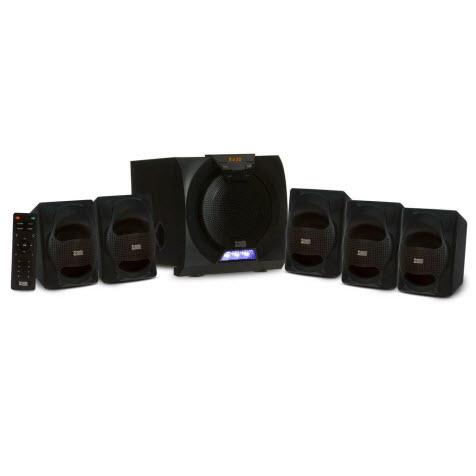 Acoustic Audio AA5230 Home Theater 5.1 Bluetooth Speaker System with USB Input and LED Display