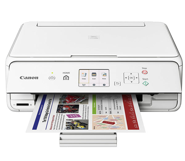 Canon Office Products PIXMA TS5020 WH Wireless color Photo Printer with Scanner & Copier - White
