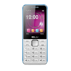 BLU Tank II T193 Unlocked GSM Dual-SIM Cell Phone - White Blue