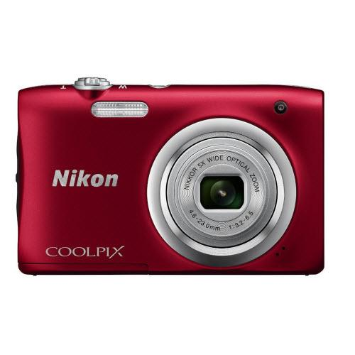 Nikon Coolpix A100 20MP Digital Camera (Red)