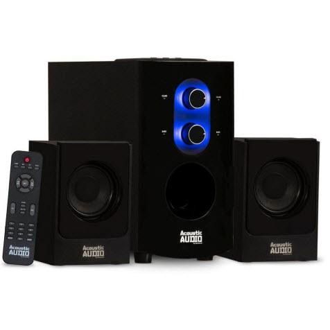 Acoustic Audio AA2130 Bluetooth Home 2.1 Speaker System