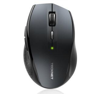 TeckNet Alpha Ergonomic 2.4G Wireless Optical Mobile Mouse - Grey