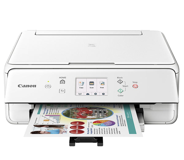 Canon Compact TS6020 Wireless Home Inkjet All-in-One Printer Ink Bundle - White