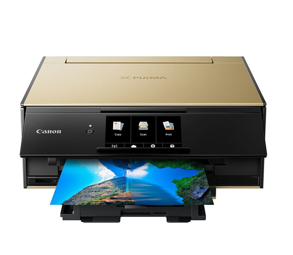 Canon TS9120 Wireless All-In-One Printer with Scanner and Copier Deluxe Pack - Gold