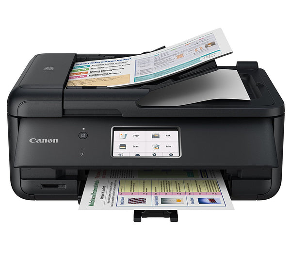 Canon PIXMA TR8520 Wireless Home Office All-In-One Printer with Scanner, Copier and Fax - Ink and Paper Bundle