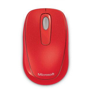 Microsoft 1000 Wireless Mobile Mouse - Flame Red