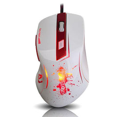 Ajazz Firstblood Ergonomic 16400 DPI Wired Gaming Mouse - White