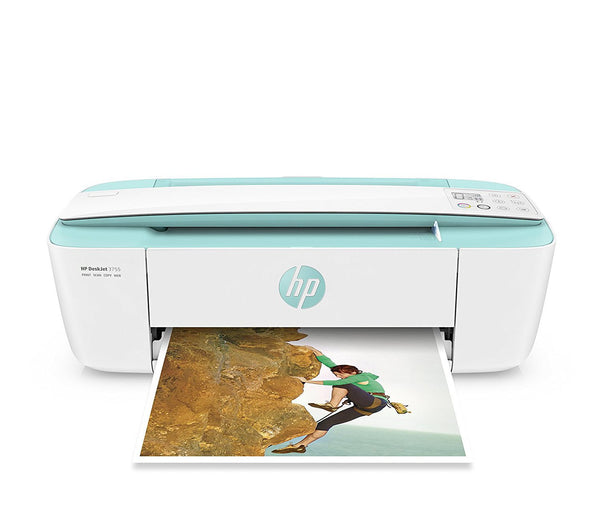 HP DeskJet 3755 Compact All-in-One Wireless Printer - Seagrass Accent