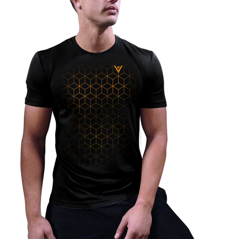 Men's Heat Activated Geometric Pattern Tech Shirt