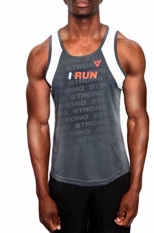 "Men's ""I Run"" Racing singlet"