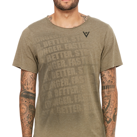 "Men's ""FASTER, BETTER, STRONGER"" Short Sleeve Cotton"
