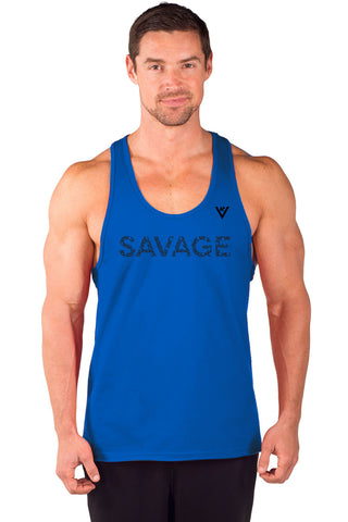 "Men's ""SAVAGE"" Cotton Stringer Tank"