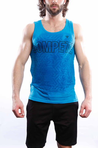 "Men's ViewSPORT ""COMPETE"" Cotton Athletic Tank"