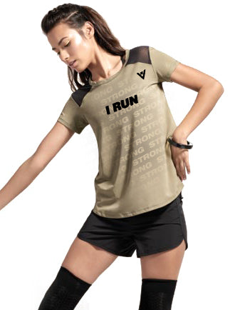 "Women's ""I RUN"" Short Sleeve"