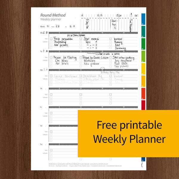 picture about Full Focus Planner Pdf Download titled ☑ Cost-free Weekly Planner 2019 (PDF for self printing) - The
