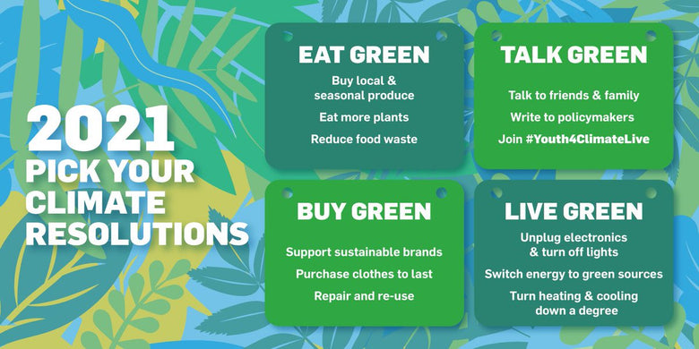 green resolutions ideas to reduce your carbon footprint in 2021
