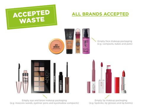 Maybelline Make Up Packaging Terracycle Recycling