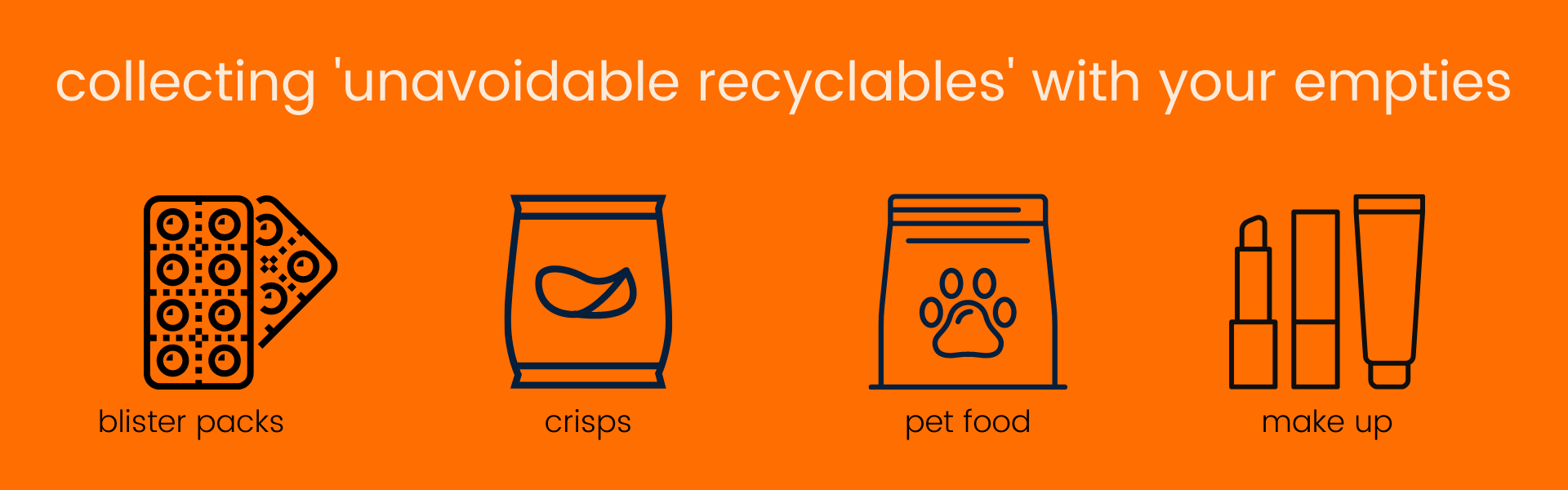 collecting unavoidable unrecyclables