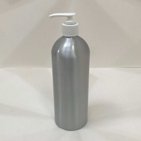 aluminium pump bottle 500ml