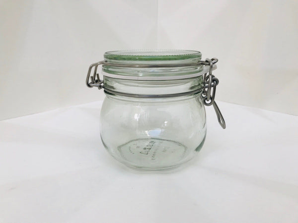 glass storage jar 0.5 litre (toppings & grains)