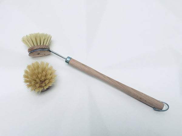 wooden replacement dish brush head