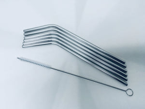 stainless steel straws (6 pack)