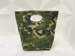 organic cotton lunch bag - popper