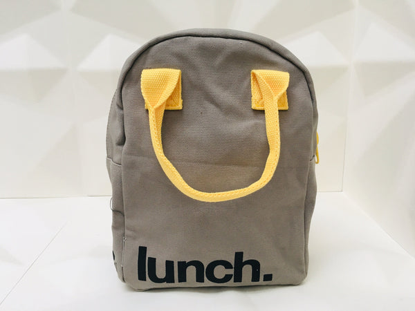 organic cotton lunch bag - zipper