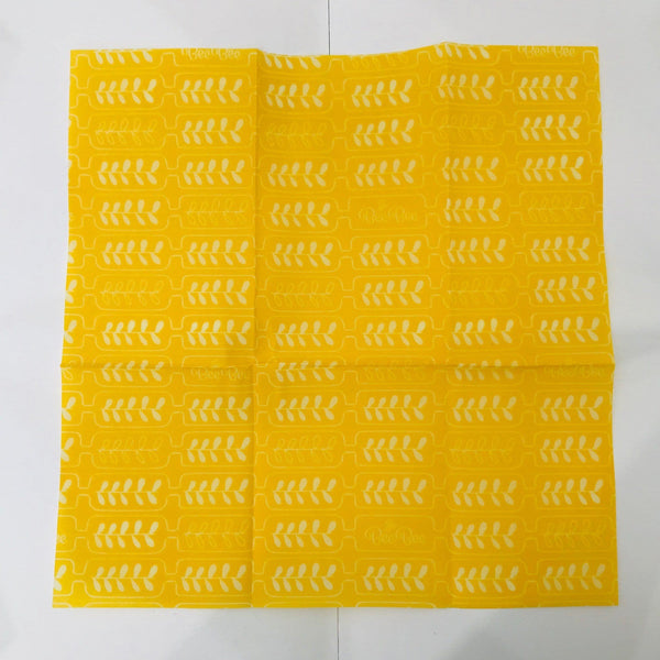 BeeBee beeswax wrap single yellow