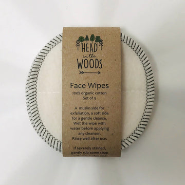 cotton face wipes x 5