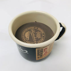 enamel mug with hot chocolate (100g)