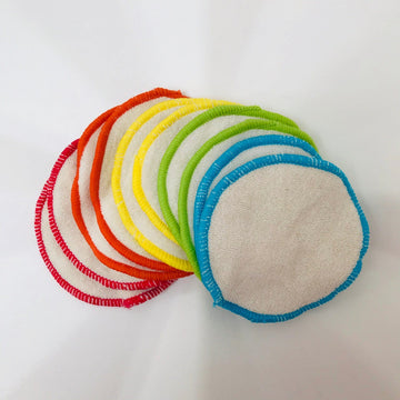 cotton reusable wipes x 10 with wash bag