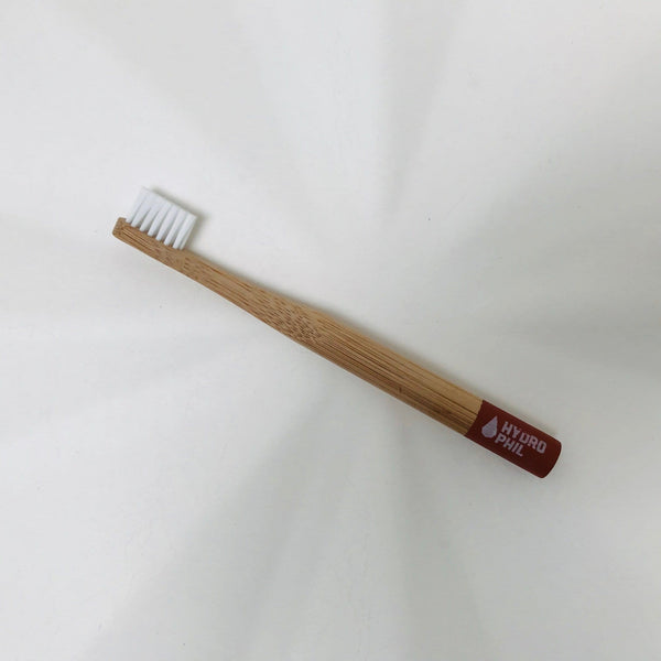 bamboo toothbrush kids red