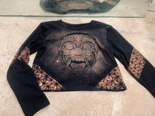 Load image into Gallery viewer, Oni Mask Long Sleeve Crop Top
