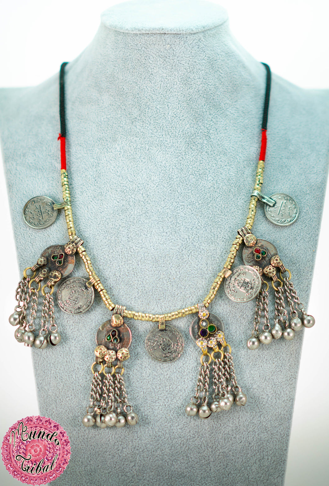 collar tribal monedas boho chic