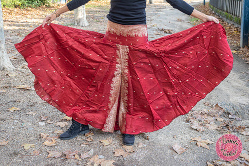 pantalón super ancho hippie umbrella sari india