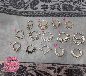 septum fake falso plata étnico tribal