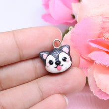 Load image into Gallery viewer, Grey Husky Dog Charm