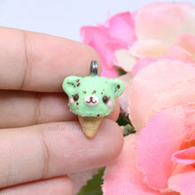 Load image into Gallery viewer, Mint Bear Ice Cream Charm
