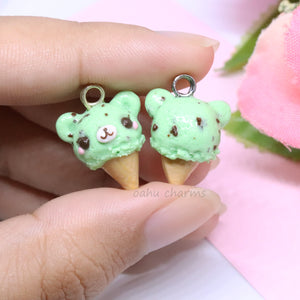 Mint Bear Ice Cream Charm