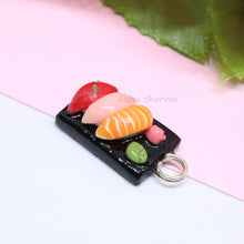 Load image into Gallery viewer, Sushi Platter 3 Piece Charm