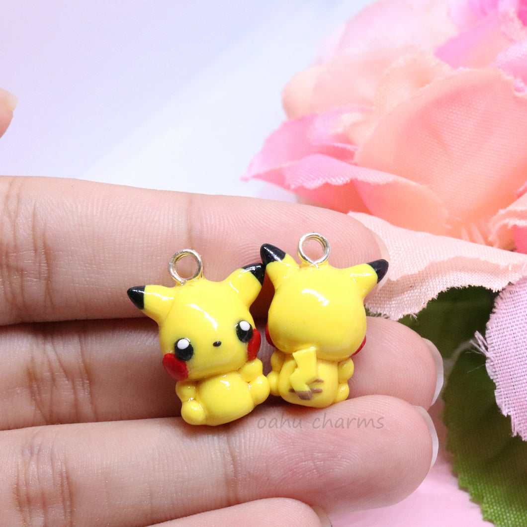 Yellow Electric Mouse Charm