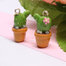 Load image into Gallery viewer, Kawaii Cactus Charm